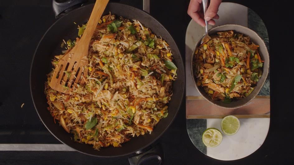 One Pot Chicken & Veg Stir Fried Rice
