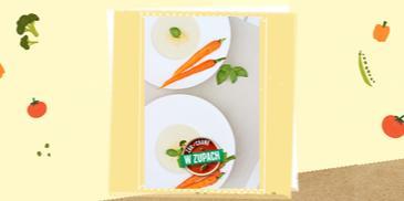 Zupa kalafiorowa z glazurowaną marchewką