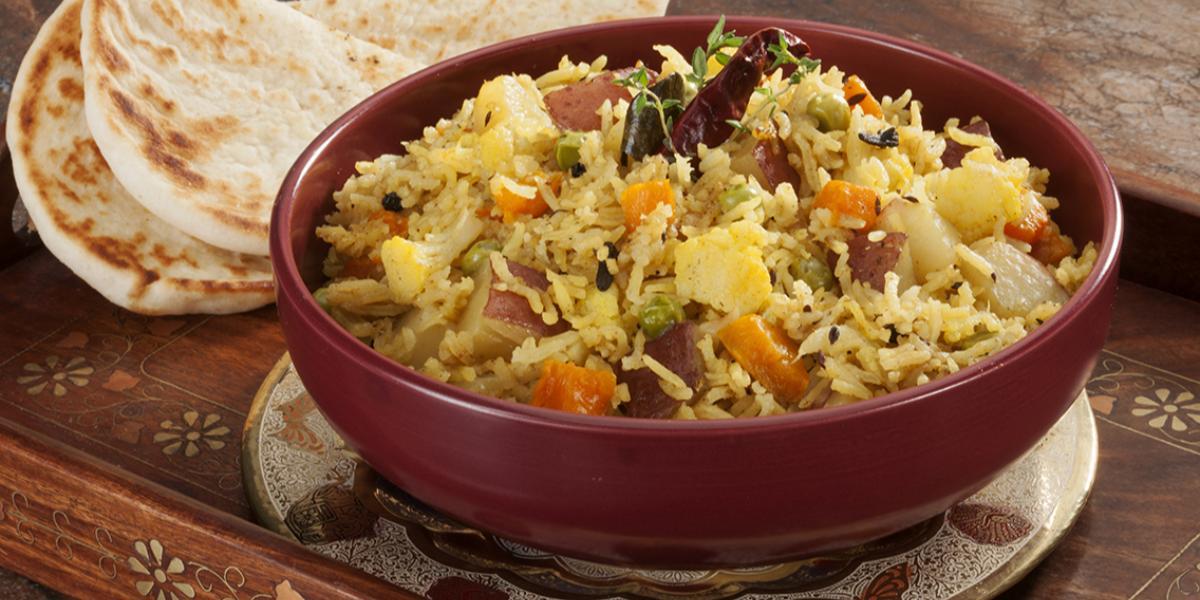 Baked Vegetable Biryani