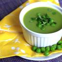 Zupa krem z zielonego groszku na przekór zimie