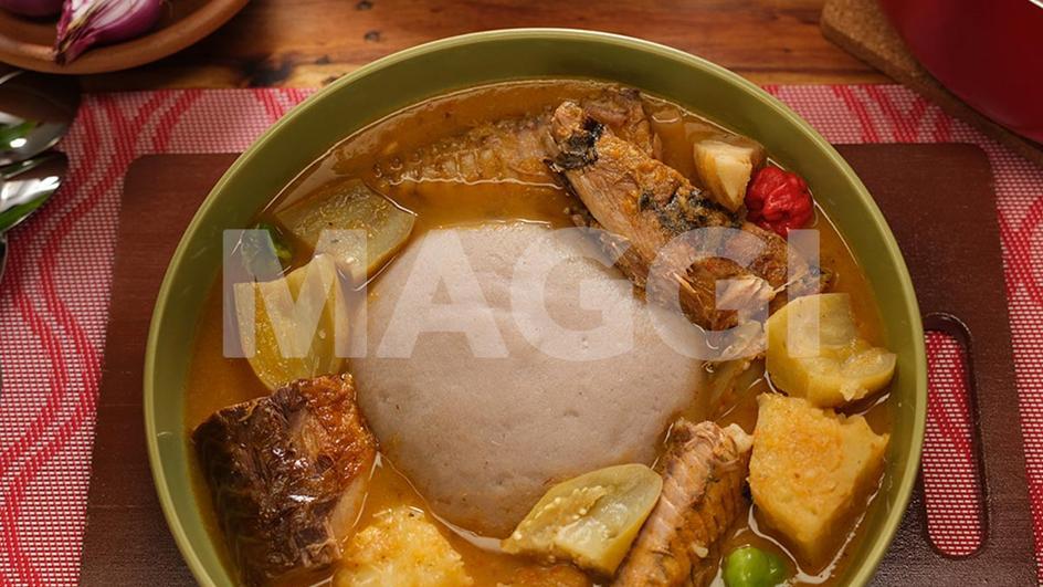 Mélange de tubercules en soupe légère