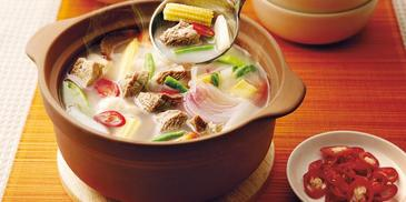 Hot & Sour Clear Beef Soup