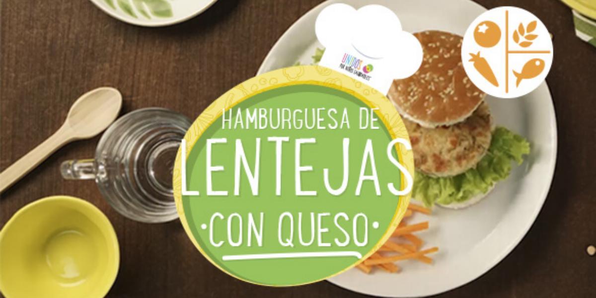 HAMBURGUESAS DE LENTEJAS CON QUESO