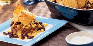 Knuspriges Chili con Carne Gratin