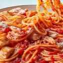 Chicken and spaghetti with Basilico sauce