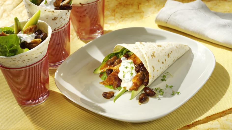 Chicken-Wraps mit Avocado