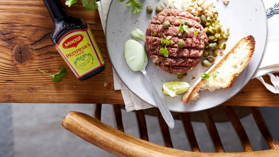 Tatar z anchois i wasabi