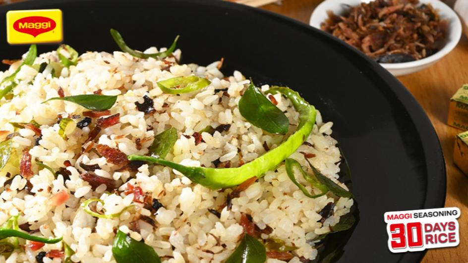Green Chili and Maldive Fish rice