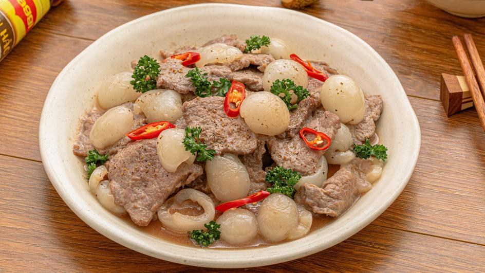 Thịt Bò Xào Chôm Chôm