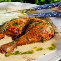 Пилешки бутчета в гъбен сос