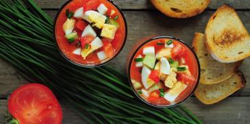 Gazpacho z jajkiem