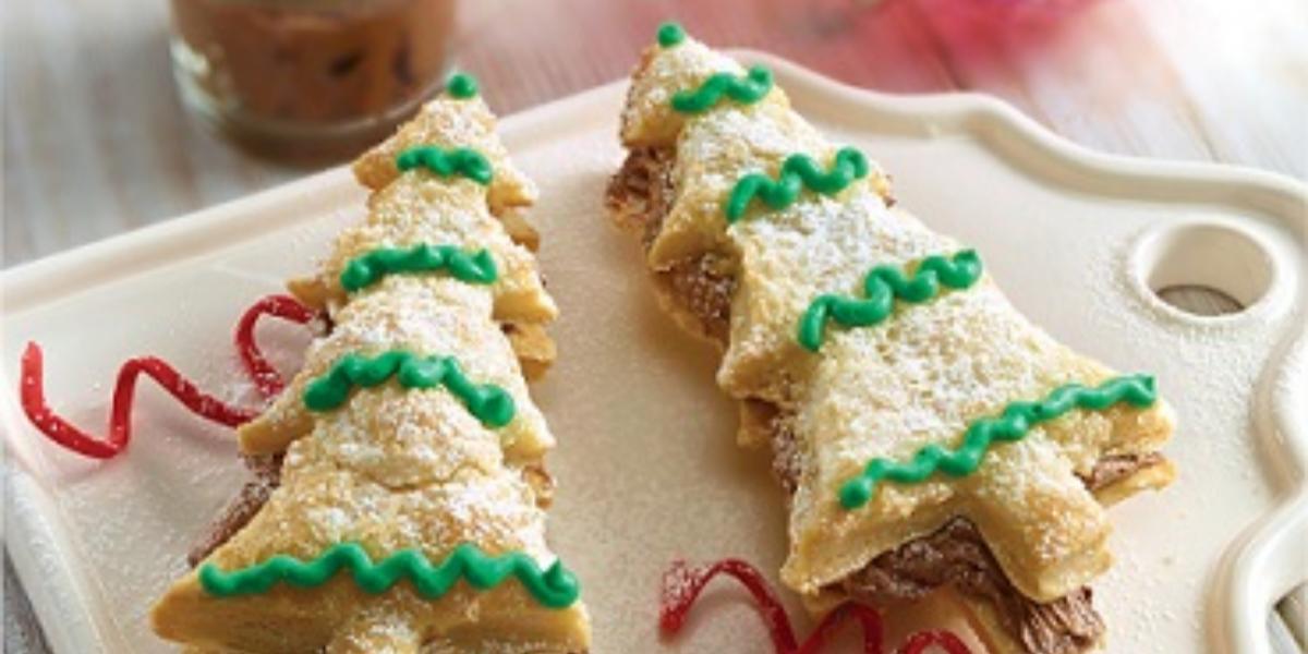 pinito navideño con mousse de chocolate