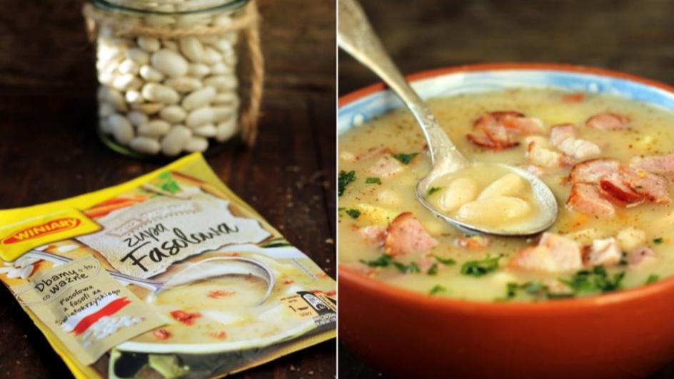 Zupa fasolowa tradycyjna z boczkiem i kiełbasą