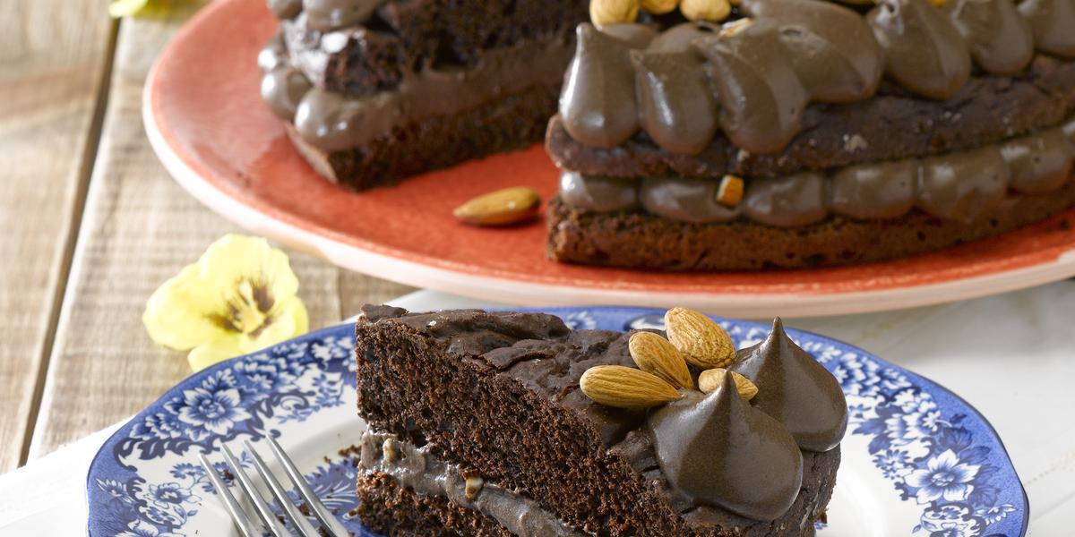 Pastel de Chocolate y Almendras sin Azúcar
