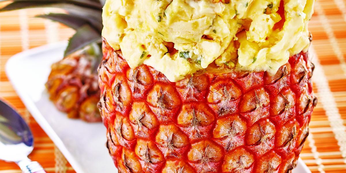Pineapple Chow Ice Cream