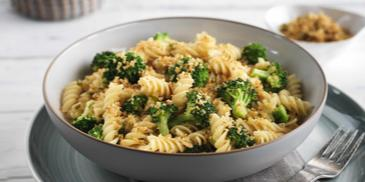 Fusilli with Broccoli and Spicy Bread Crumbs