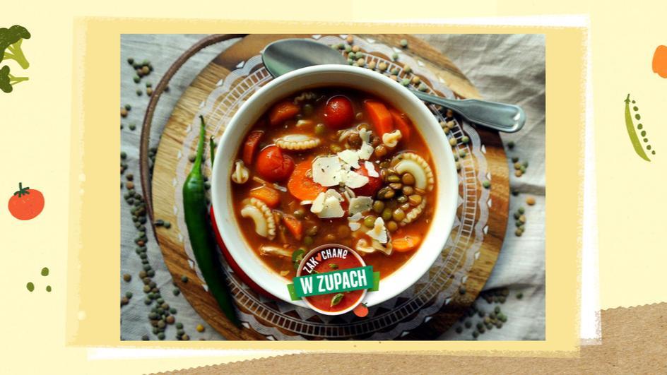 Włoska zupa z soczewicy na białym winie