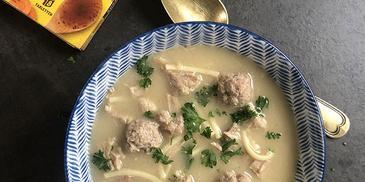 Romige soep met kalfsvlees van Ger en Esmee