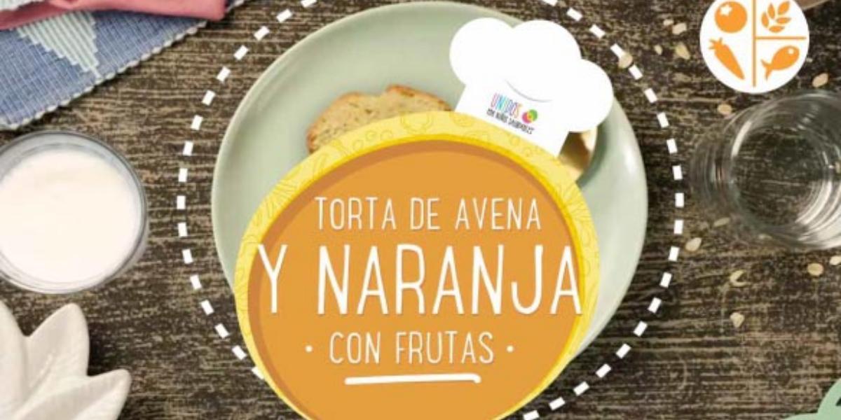 TORTA DE AVENA Y NARANJA CON FRUTAS