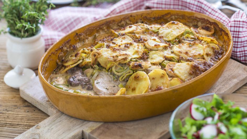 Elsässer Fleisch-Kartoffelauflauf