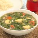 Sup Tofu Lembut Bersama Bayam