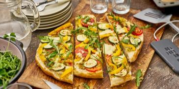 Fladenbrot Pizza mit Grillgemüse