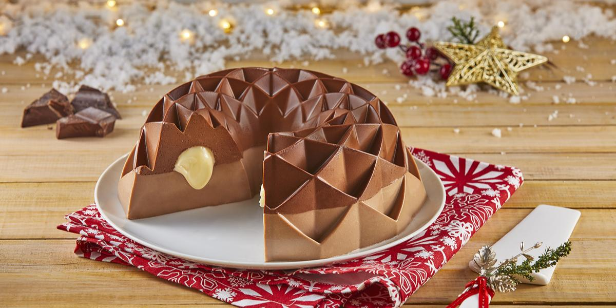 Gelatina rellena de 3 chocolates