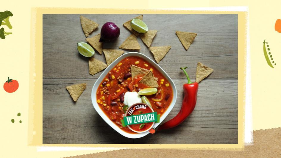 Zupa meksykańska z mięsem wołowym