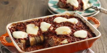 Eggplant & Beef Manicotti