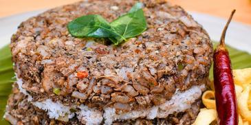 Fish ambulthiyal rice