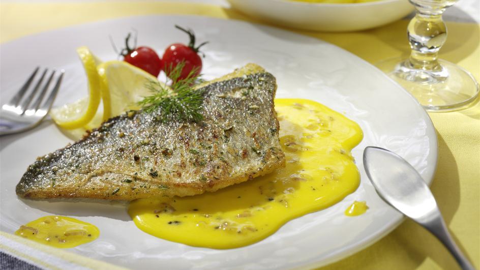 Dorade mit Zitronen-Safran-Sauce