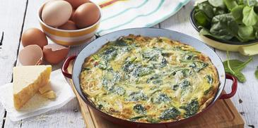 Caramelised Onion & Baby Spinach Frittata