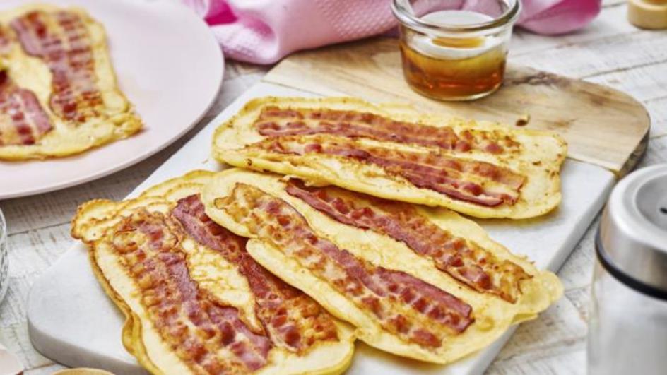 Bacon-Pfannkuchen-Streifen