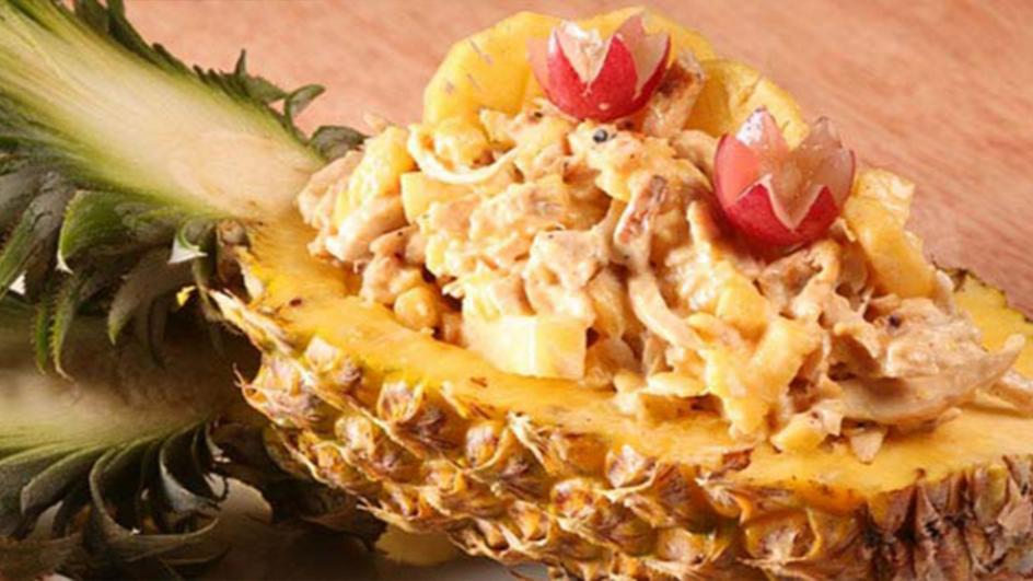 Chicken & Pineapple Salad Tossed with Celery Mayonnaise