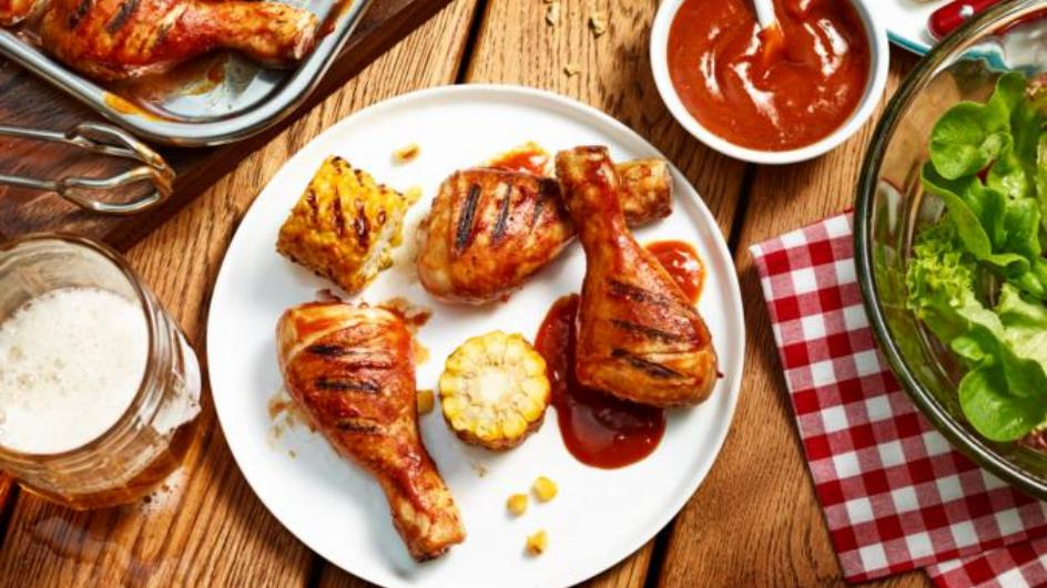 Chickendrums mit Curry-Marinade