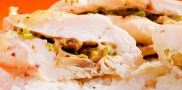 Пълнени пилешки гърди на фурна