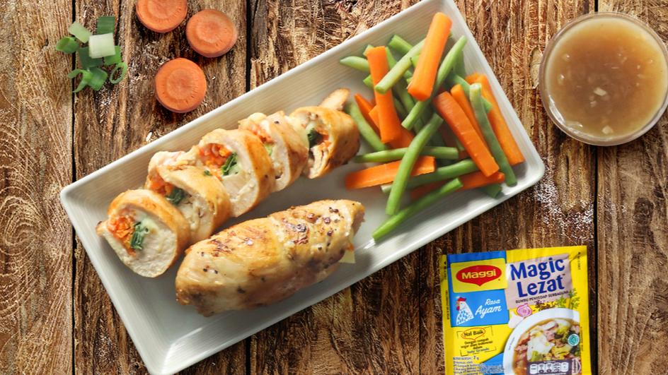 Kreasi Masak Pintar #MaggixYummy: Ayam Gulung Wortel Keju