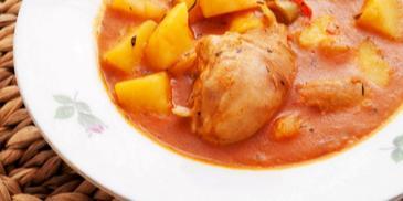 Яхния от пиле с картофи