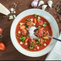 Minestrone (olasz zöldségleves) gombás húsgolyóval