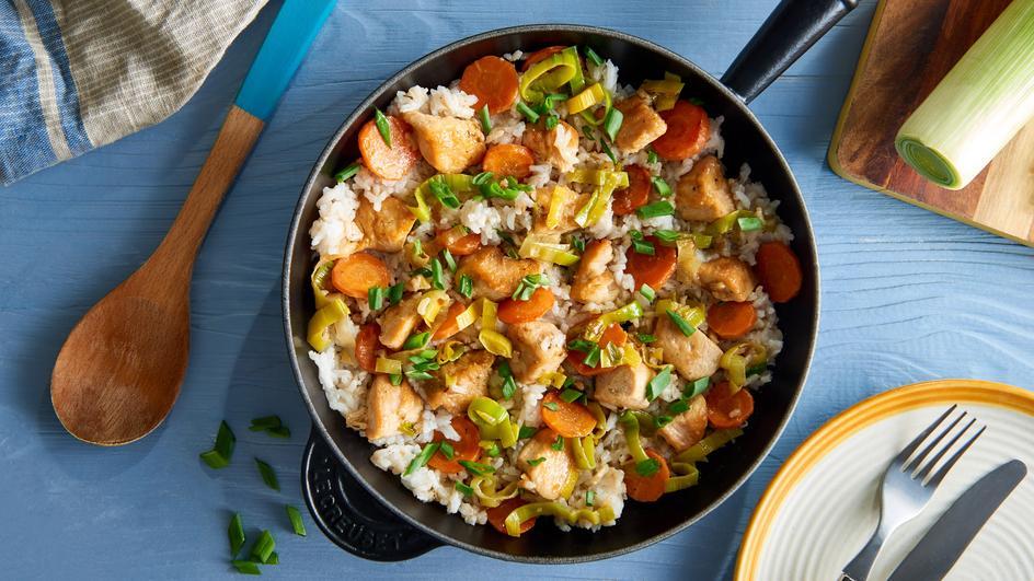 Schnelle Hähnchen-Reis-Pfanne