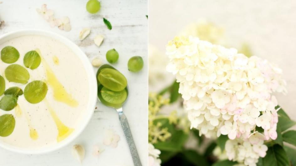 Ajo blanco, czyli hiszpański chłodnik z migdałów i czosnku