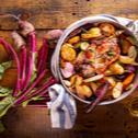 Μπριζόλα χοιρινή με λαχανικά στον φούρνο