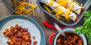 Enchiladas mit Chili con Carne