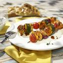 Mediterrane Hähnchen-Gemüse-Spieße