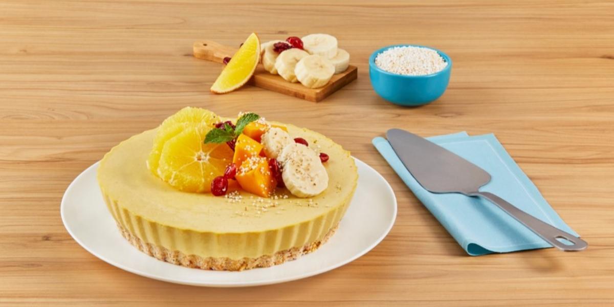 Tarta de frutas con amaranto