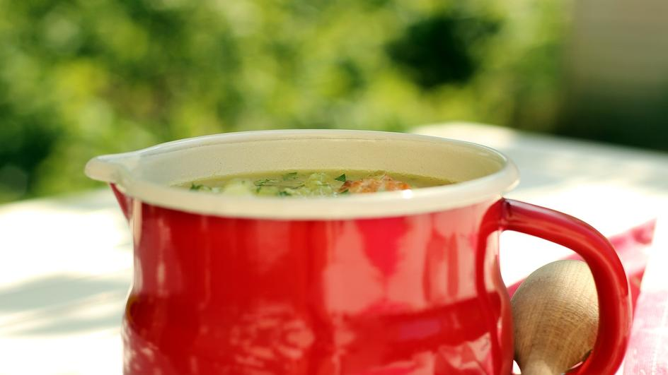 Wiosenna zupa jarzynowa z klopsikami