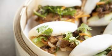 Szechuan Mala Chicken With Steamed Buns