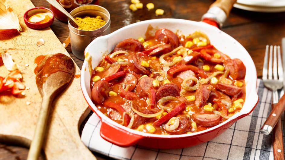 Pikante Currywurstpfanne