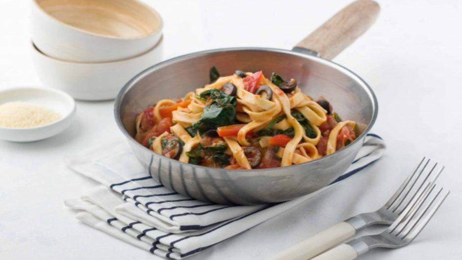 Chilli, Tomato and Capsicum Pasta