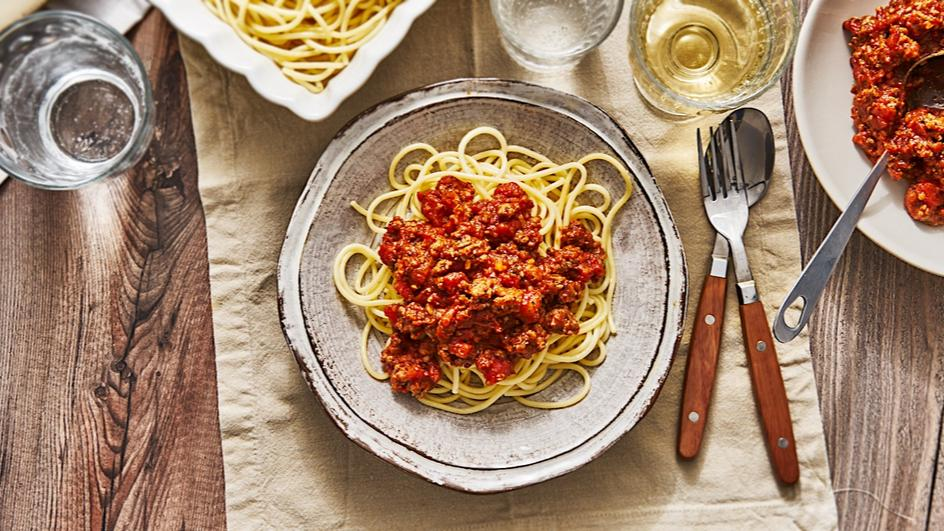 Schnelle Spaghetti Bolognese